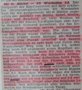Bericht zum 2 zu 5 gegen den SV Wiesbaden