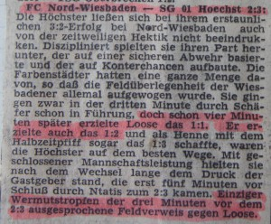 Bericht zum 3 zu 2 bei Nord-Wiesbaden