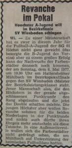Höchster Kreisblatt 2.5.1977 Vorschau Bezirkspokalfinale
