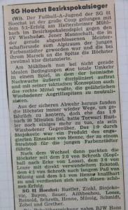 Höchster Kreisblatt 9.5.1977 Bericht Bezirkspokalfinale