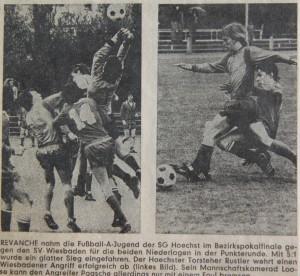Höchster Kreisblatt 9.5.1977 Bilder Bezirkspokalfinale