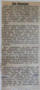 HK 21.07.1977 Trainingsauftakt Die Situation_