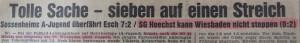 Header zum 2 zu 5 gegen den SV Wiesbaden